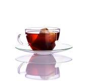 Tè rosso della frutta su fondo bianco Fotografie Stock