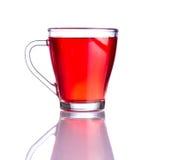 Tè rosso isolato su fondo bianco Fotografia Stock