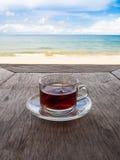 Tè sulla spiaggia Immagine Stock