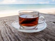 Tè sulla spiaggia Fotografia Stock Libera da Diritti