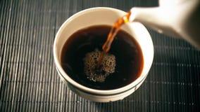 Tè Tè cinese Specie di Puer di tè stock footage