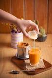 Tè tailandese con stile vietnamita Fotografia Stock