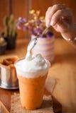 Tè tailandese ghiacciato del latte Fotografie Stock Libere da Diritti