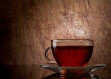 Tè in tazza di vetro Fotografie Stock Libere da Diritti