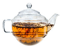 Tè in teiera Immagini Stock Libere da Diritti