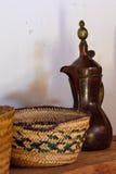 Tè tradizionale, vaso del coffe Fotografie Stock