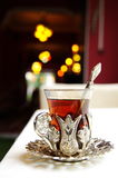 Tè turco a Costantinopoli fotografia stock