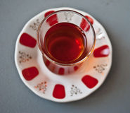 Tè turco in vetro tradizionale Fotografia Stock