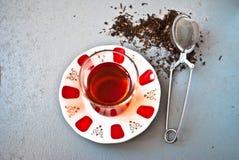 Tè turco in vetro tradizionale Immagine Stock