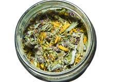 Tè in un vaso Fotografia Stock