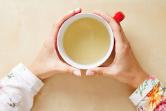 Tè in una tazza da sopra fotografia stock