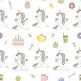 2018 04 tè 22_unicorn Illustrazione di Stock