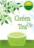 Tè verde 100 per cento organici royalty illustrazione gratis
