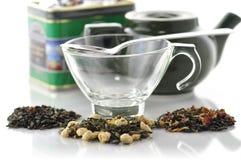 Tè verde allentato Fotografia Stock