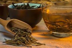 Tè verde cinese Fotografie Stock