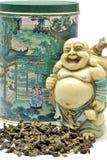 Tè verde con Budai Fotografie Stock