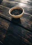 Tè verde con i pezzi di frutta Fotografia Stock