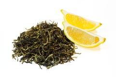 Tè verde con il limone Fotografie Stock