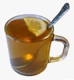 Tè verde con il limone Fotografia Stock
