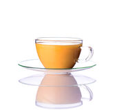 Tè verde con latte Fotografie Stock