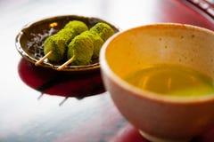 Tè verde Dango Fotografia Stock Libera da Diritti