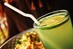 Tè verde del limone Fotografia Stock