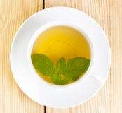 Tè verde della menta fotografie stock libere da diritti