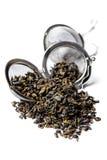 Tè verde della polvere nera. Immagini Stock