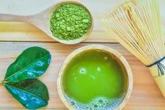 Tè verde di Matcha immagini stock libere da diritti