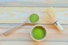 Tè verde di Matcha fotografia stock libera da diritti