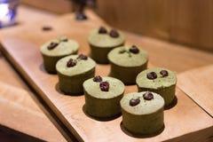 Tè verde di tiramisù Fotografia Stock Libera da Diritti