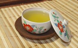 Tè verde giapponese Fotografia Stock