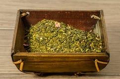 Tè verde di Sencha Fotografia Stock