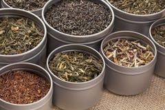 Tè verde, nero e rosso Immagine Stock