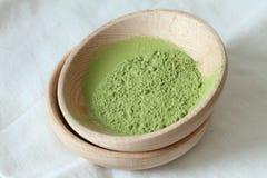 Tè verde in polvere Fotografia Stock