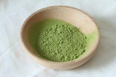 Tè verde in polvere Fotografie Stock
