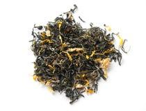 Tè verde su bianco immagini stock
