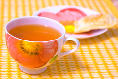 Tè verde in una tazza Fotografie Stock