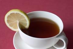 Té avec le citron photos stock