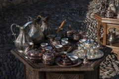 Té, café, turco, artes, recuerdo, mezquita, alminar, Mostar, Bosnia, Herzegovina, Europa, Islam, religión, lugar de culto imagenes de archivo