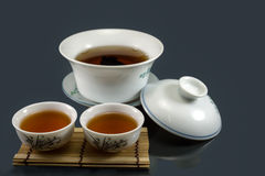 Té chino de Kungfu Fotos de archivo
