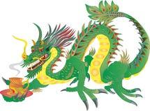 Té chino del dragón del poder ilustración del vector
