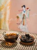Té chino del puer Imagen de archivo libre de regalías