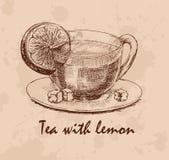 Té con el limón Fotografía de archivo libre de regalías