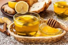 Té con el limón y la miel Fotografía de archivo
