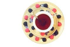 Té con la mermelada de la fruta Fotografía de archivo libre de regalías