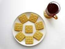 Té con las galletas Fotos de archivo libres de regalías
