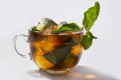Té de hielo con la menta fotos de archivo