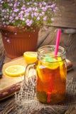 Té de hielo hecho en casa fresco Fotografía de archivo