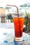 Té de hielo tailandés, bebida helada Imágenes de archivo libres de regalías